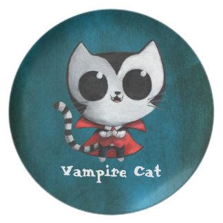 Cute Vampire Cat Plate