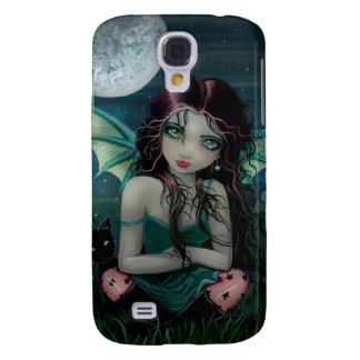 Cute Vampire Fairy and Moon Gothic Fantasy Art Galaxy S4 Case
