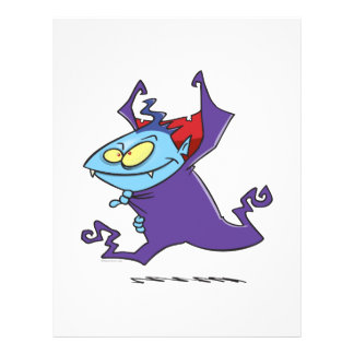 cute vampire kid cartoon character flyers