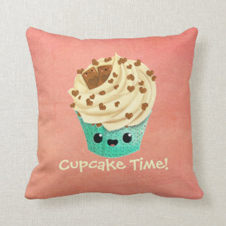 Cute Vanilla Chocolate Cupcake Cushion