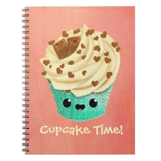 Cute Vanilla Chocolate Cupcake Notebook