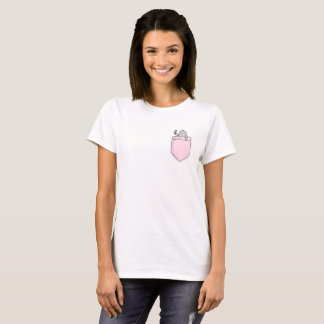 Cute Vanity Manatee Pocket T-shirt