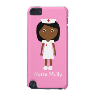 Cute Vector Cartoon Ethnic Nurse Personalized Pink iPod Touch 5G Cases