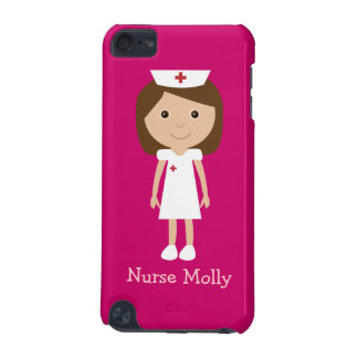 Cute Vector Cartoon Nurse Pink Personalized iPod Touch 5G Case