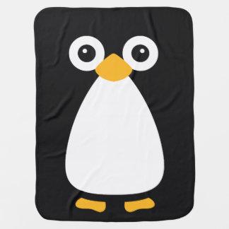 Cute Vector Penguin Baby Blanket