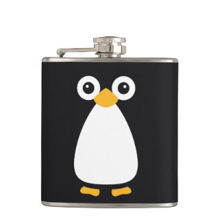 Cute Vector Penguin Hip Flask