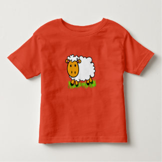 Cute Vector Sheep Toddler T-Shirt