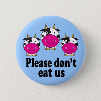 Cute Vegan Cows Button