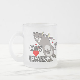 Cute Vegan Gift 10 Oz Frosted Glass Coffee Mug