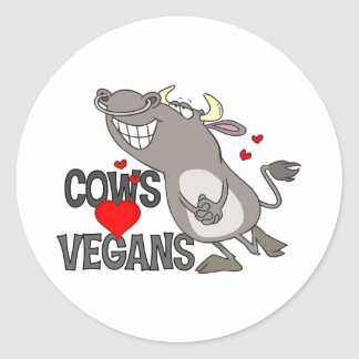 Cute Vegan Gift Round Sticker