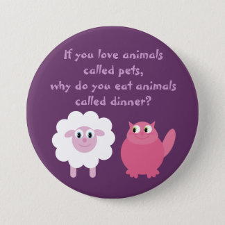 Cute Vegetarian / Animal Rights Customizable 7.5 Cm Round Badge