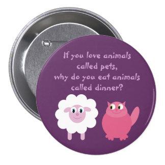 Cute Vegetarian / Animal Rights Customizable 7.5 Cm Round Badge