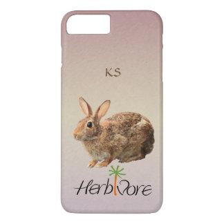 Cute Vegetarian Bunny Monogram Pastel Purple iPhone 8 Plus/7 Plus Case