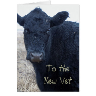 Cute Vet Graduation Congratulations Ranch Farm DVM Card