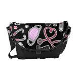 Cute Veterinarian / Veterinary Technician Love Messenger Bags