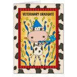 Cute Veterinary Medicine Graduate Cartoon Cow Greeting Card