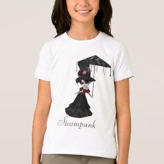 Cute Victorian Steampunk Goth Girl & Parasol Tshirt