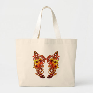 cute vine butterfly wing of love jumbo tote bag