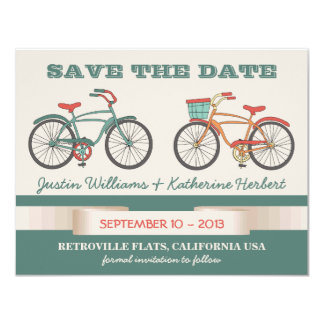 Cute Vintage Bicycles Retro Style Save the Date Card