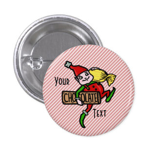 Cute Vintage Candy Christmas Elf Customizable 3 Cm Round Badge