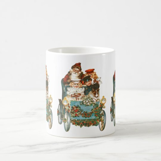Cute Vintage Car | Santa Claus Christmas Coffee
