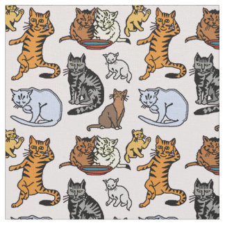 Cute Vintage Cat Drawing Pattern