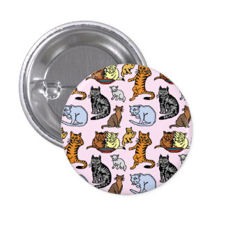 Cute Vintage Cat Drawing Pattern Pins