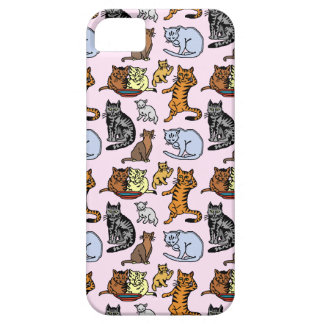 Cute Vintage Cat Drawing Pattern Barely There iPhone 5 Case