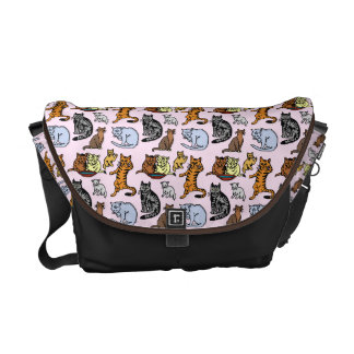 Cute Vintage Cat Drawing Pattern Commuter Bags