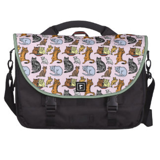 Cute Vintage Cat Drawing Pattern Bags For Laptop