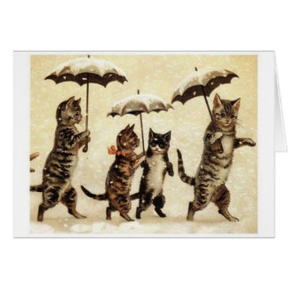Cute Vintage Cat Greeting Card