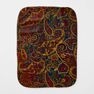 Cute vintage dark brown paisley design burp cloth
