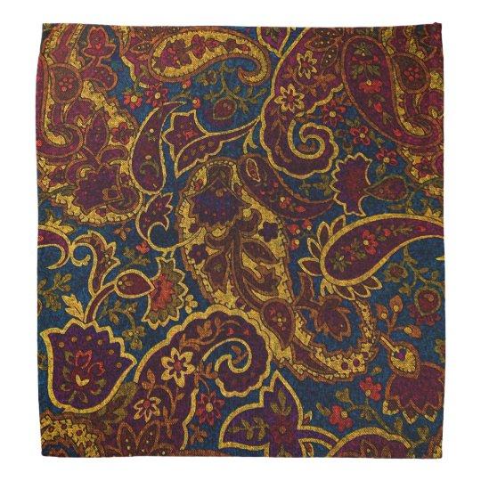 Cute vintage dark brown paisley design kerchiefs