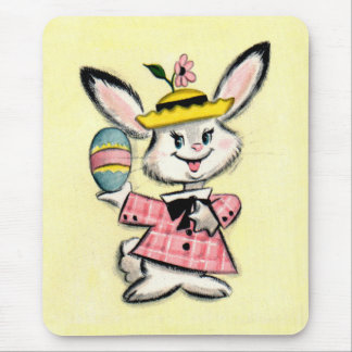 Cute Vintage Easter Bunny Mouse Pad