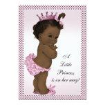 Cute Vintage Ethnic Princess Baby Shower 13 Cm X 18 Cm Invitation Card