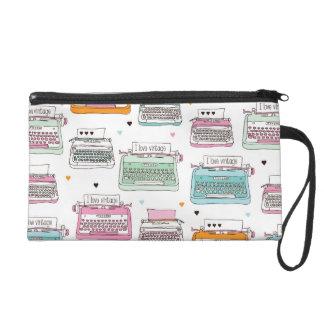 Cute vintage fashion typewriter clutch wristlet purses