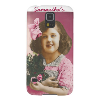 Cute Vintage Girl - Personalized Samsung Galaxy Nexus Covers