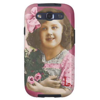 Cute Vintage Girl - Personalized Galaxy SIII Covers