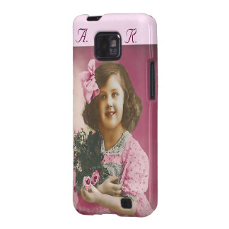 Cute Vintage Girl - Personalized Samsung Galaxy SII Case