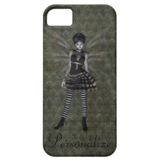Cute Vintage Gothic Fairy Personalised iPhone 5 Case