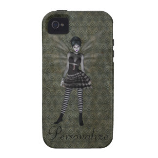 Cute Vintage Gothic Fairy Personalized Case-Mate iPhone 4 Cases