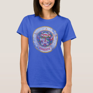 Cute Vintage Grunge State Flag of Minnesota T-Shirt