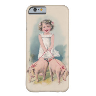 Cute Vintage iPhone 6 case - Young Gril Walking Pi Barely There iPhone 6 Case