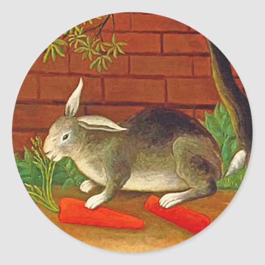 Cute vintage Pet Bunny Rabbit Stickers ~