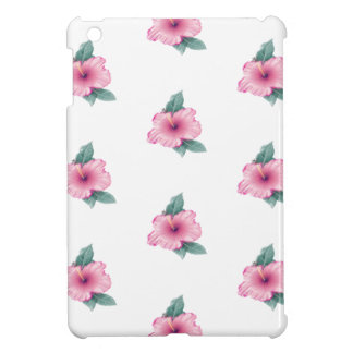 Cute Vintage Pink Hibiscus Pattern iPad Mini Case
