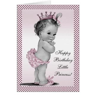 Cute Vintage Princess 1st Birthday Greeting Card