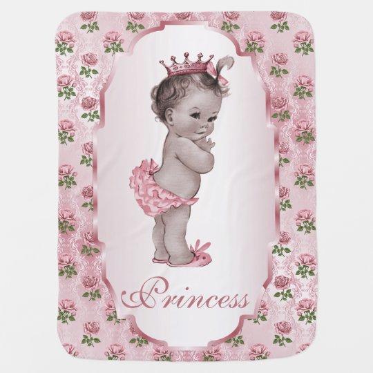 Cute Vintage Princess Baby Pink Roses Frame Baby