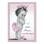 Cute Vintage Princess Baby Shower Personalized Invitation