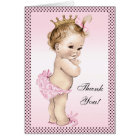 Cute Vintage Princess Thank You Card