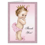 Cute Vintage Princess Thank You Note Card